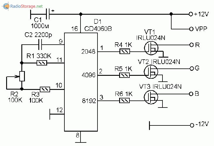контроллер схема rgb