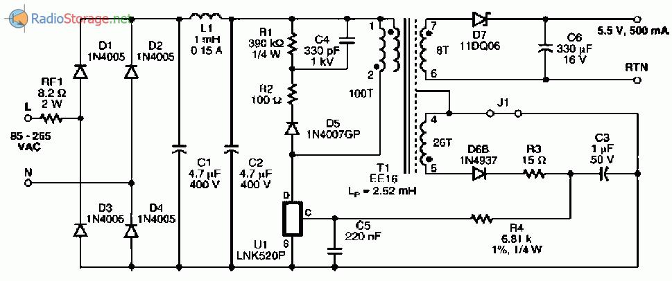Зарядные устройства из импульсных блоков питания схемы