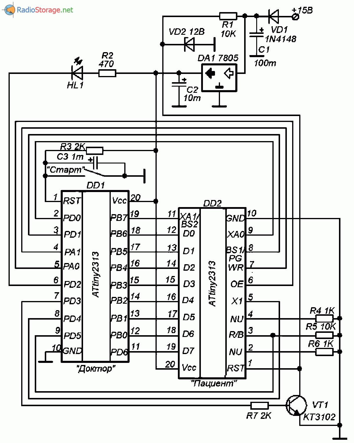 приставка автомат для зарядного устройства схема