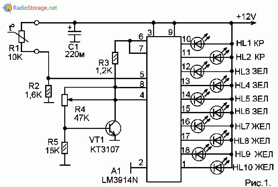 Простой цифровой термометр своими руками с датчиком на lm35 43