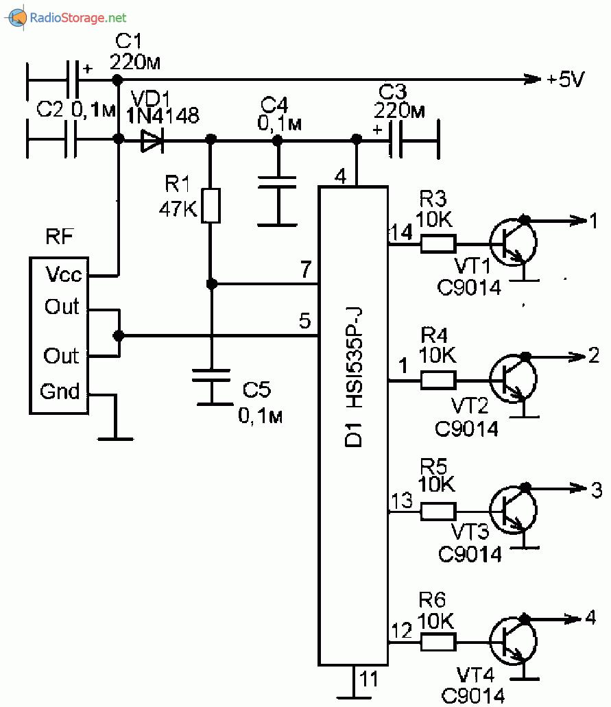 Принципиальная схема модификации китайского электронного дистанционного переключателя