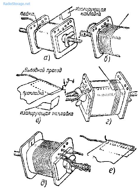 Заделка выводных проводов обмотки трансформатора