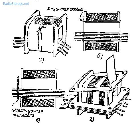 Сборка сердечника для трансформатора