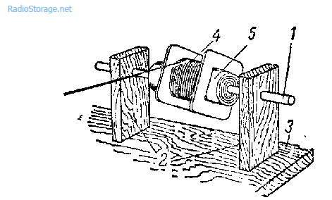 Простейшее приспособление для размотки провода с катушек трансформатора