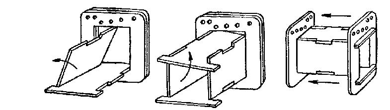 Сборка каркаса для катушек трансформатора в замок