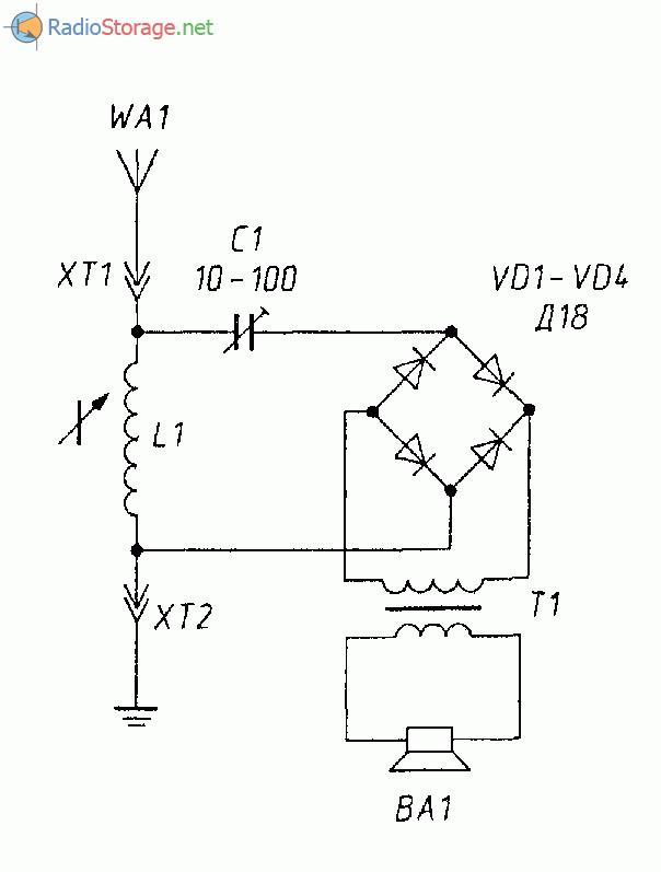 Детекторный радиоприемник