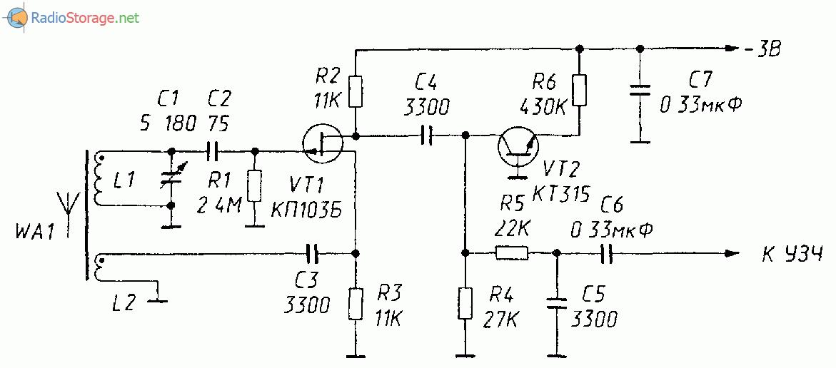 Схема: Три схемы регенеративных приемников СВ диапазона. принципиальная схема.