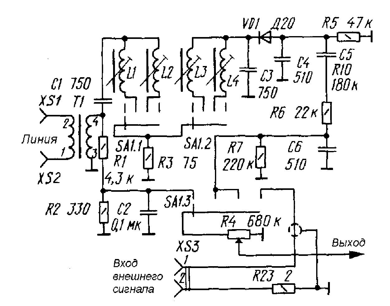 Трёхпрограммный приёмник схема трёхпрограммный приёмник