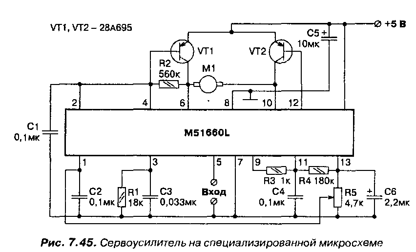 Схема рулевой машинки на