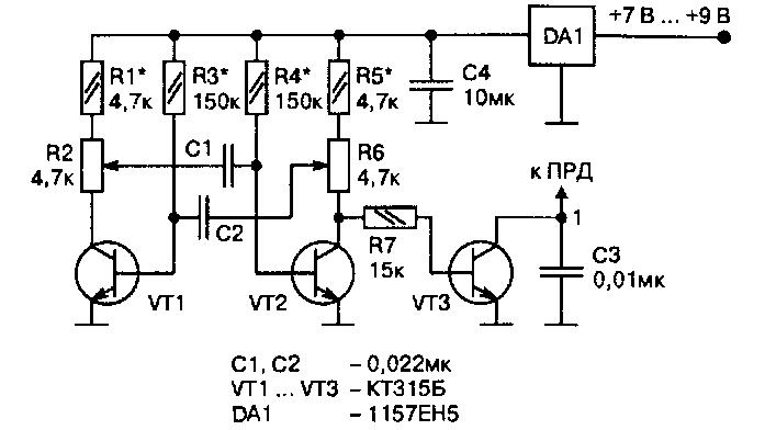 Схема простого шифратора на