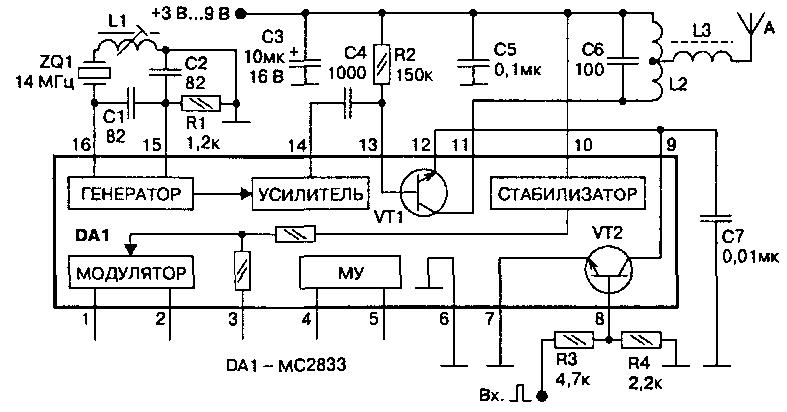 АМ передатчик на интегральной