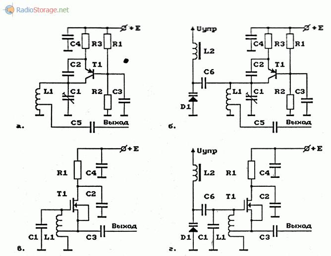 Примеры схем задающих генераторов для радиопередатчиков