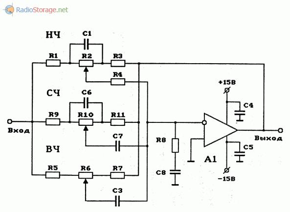 Схема темброблока на оу