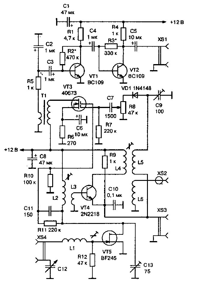 Схема простого QRP-трансивера