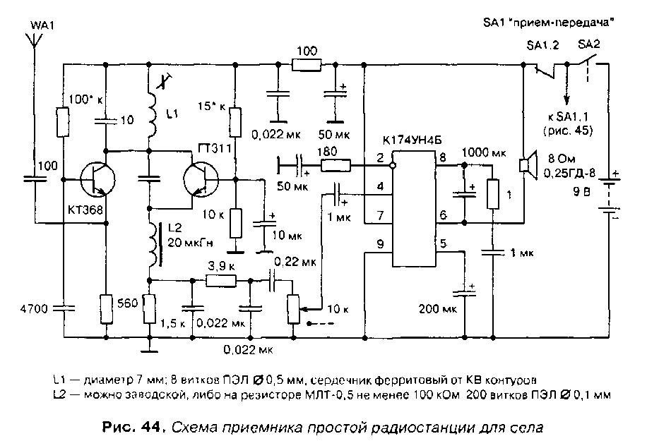 Схема приемника рации
