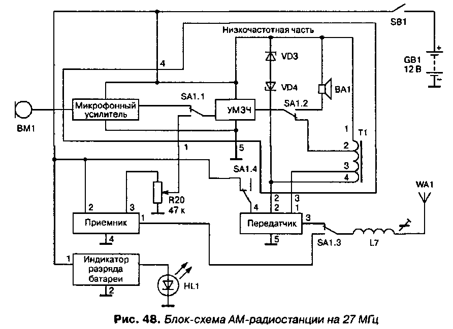 Схема АМ-радиостанции на